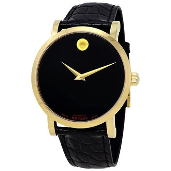 Movado Red Label  Automatic Black Dial Mens Watch 0607007
