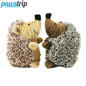 1PC Soft Plush Hedgehog or Sheep Squeaky Toy