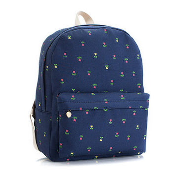 Korean Lovely Cute Canvas Backpack = 4887965124