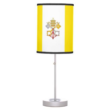 Patriotic table lamp with Flag of Vatican