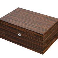 Visol Richardson Ebony Exotic Wood Humidor - Holds 100 Cigars