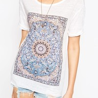 House Of Harlow Paisley Linen T-Shirt