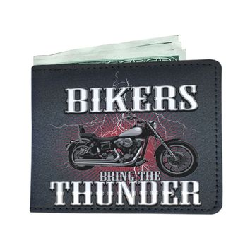 Bikers Bring The Thunder Motorcycle Wallet