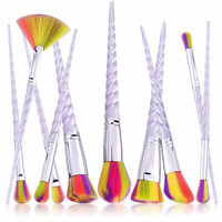Unicorn Thread Makeup Brushes Professional Make Up Brushes Fiber Brush Set Makeup Tools Eyebrow Eyeliner Powder Brushes