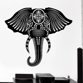 Nursery Wallpaper Removable PVC Home Decor Yoga Decal Wall Decal Animal Elephant Cool Tribal Ornament Mural Vinyl Decal D242