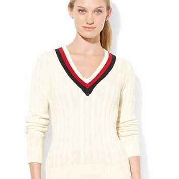 Lauren Ralph Lauren Cable-Knit Cricket Sweater