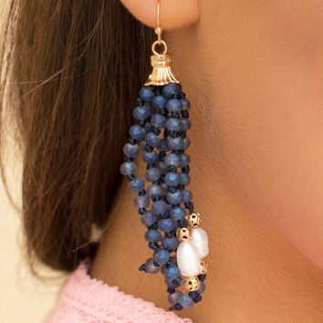 Midnight Pearl Earrings | Monday Dress Boutique