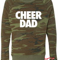 Cheer Dad fleece crewneck sweatshirt