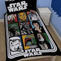Single Star Wars Characters Reversible Duvet Cover Set : TruffleShuffle.com