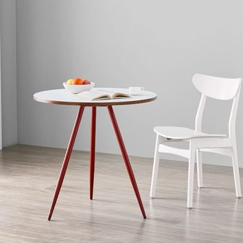 Wren Bistro Table - White Laminate