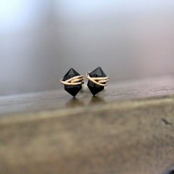 Pike Studs - Black Agate