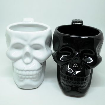Ceramic Skull Coffee or Drink Cup