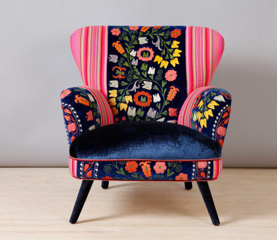 Suzani armchair - blue angel from name design studio   Home