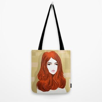 Orange Girls Tote Bag by dhiazkaosy