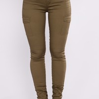 Tanisha Cargo Pants - Olive