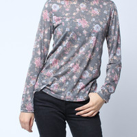 'The Danae' Gray Floral Sweater