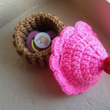 Crochet Cupcake, Cupcake Decor, Candy Dish, Jewelry Holder, Amigurumi Cupcake, Room Decor, Knit Cupcake