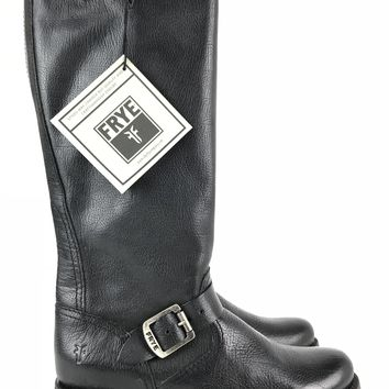 FRYE Veronica Slouch Black Riding Boot