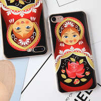 Popular Russian Doll Colorful Cases For Iphone 7 Case 4.7 Inch Colorful Painted Shell Cover -0402