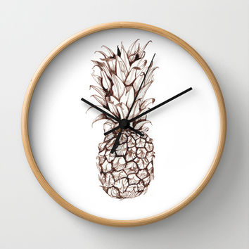 Pineapple Wall Clock by Turn North Press