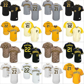 2016 Flexbase Authentic Collection Men Pittsburgh Pirates 22 Andrew McCutchen 21 Roberto Clemente baseball jerseys Stitched S-4XL