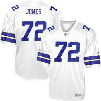 "KUYOU Dallas Cowboys Jersey - Ed ""To Tall"" Jones White Throwback Jersey"