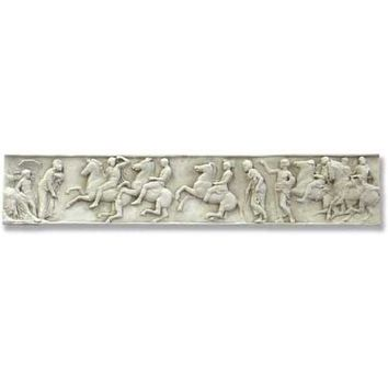 Parthenon Frieze Riders on Horses Wall Relief Hanging 58W - 8230