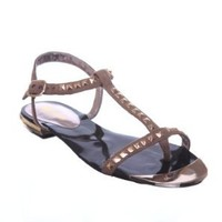 New! Faux Suede Studded Sandals