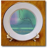 1st Anniversary, Employee, Business, Graceful Plaid Design - 8 Inch Porcelain Plate