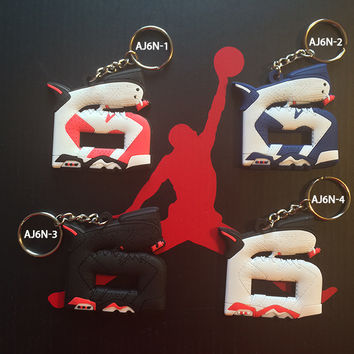Air Jordan 6 number keychain