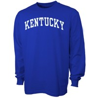 Kentucky Wildcats Royal Blue Vertical Arch Long Sleeve T-shirt