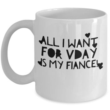 """For Men Valentines Day - For Men Gifts - Valentine's Gift For Bridegroom Unique - Fiance Mug Ideas - Birthday Gifts For Him - White Ceramic 11"""" Vday Jar Cup For Coffee, Cookies, Pens & Pencils"""