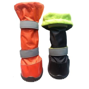 Dog Wellington Boot 100% Waterproof dog shoes with rubber sole winter snow boots Seam Sealing rain jack boots Polar Fleece shoes