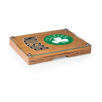 Boston Celtics - 'Concerto' Glass Top Cheese Board & Tools Set by Picnic Time