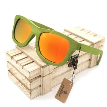 BOBO BIRD Fashion Summer Style Bamboo Wooden Sunglasses Womens Mens Polarized glasses UV 400 Eyewear in Box