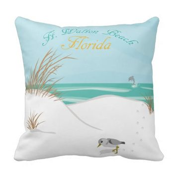 Ft. Walton Beach (Florida) Pillow