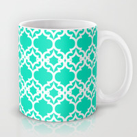 Lattice Stars in Teal Mug by House of Jennifer | Society6
