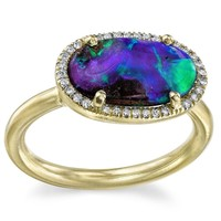 Irene Neuwirth Blue Opal Ring - Capitol - Farfetch.com