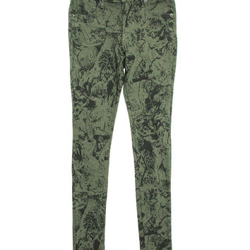 Obey - Women's Lean & Mean Printed Skinny Jeans (Green)