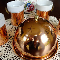 Solid Copper Cheese Dome