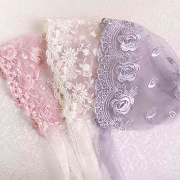 Handmade Baby Girl Lace Hat Baby Photography Props,Christening Baby Bonnet Newborn Hat,P1014
