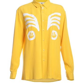 Las Cabezas Shirt in Mustard Yellow by Bruta