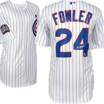 ONETOW Dexter Fowler Signed Autographed Chicago Cubs Baseball Jersey (MLB Authenticated)
