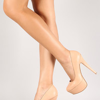 Anne Michelle Almond Toe Platform Pump