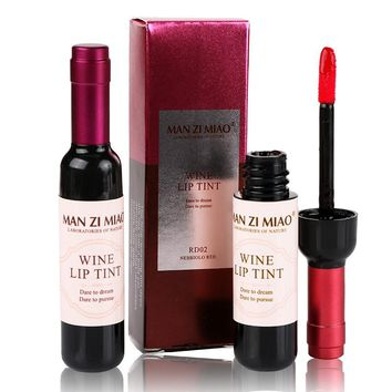Red Wine Bottle Matte Waterproof Lipstick