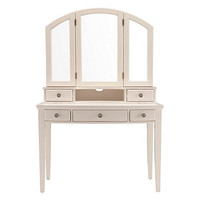 Kylie 2-pc. Vanity Desk and Tri-View Mirror Hutch | Vanities | Raymour and Flanigan Furniture
