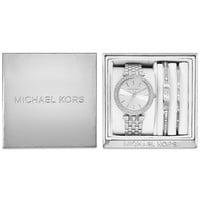 Michael Kors Women's Mini Darci Stainless Steel Bracelet Watch Gift Set 33mm MK3429