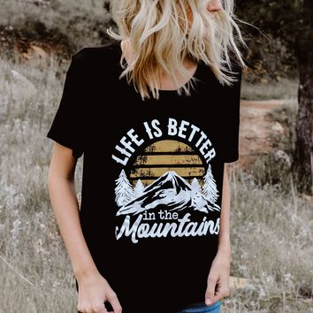 TBW: LIFE IS BETTER IN THE MOUNTAINS (BLACK)
