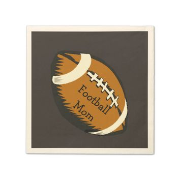 Brown and Black Football Mom Sports Paper Napkins