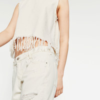 FRAYED TOP - TOPS-TRF | ZARA United Kingdom